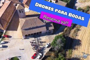 drones para bodas