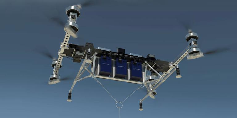 prototipo para probar las nuevas baterias de drones